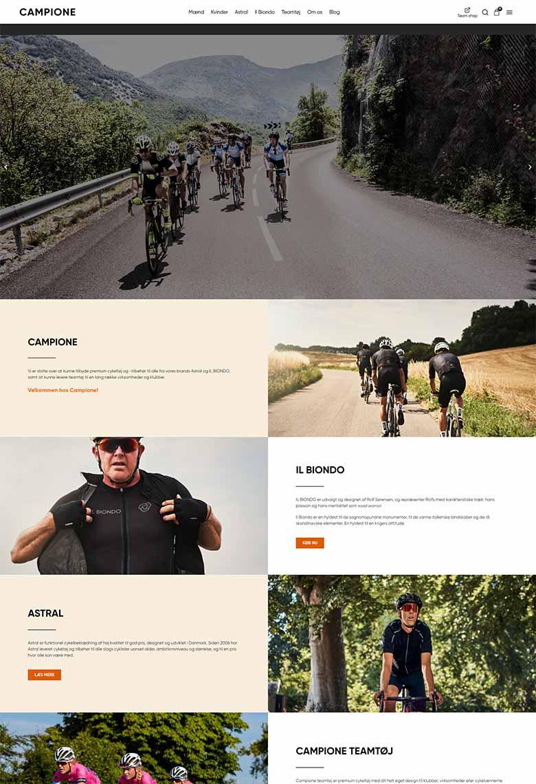 Professionel hjemmeside til Campione