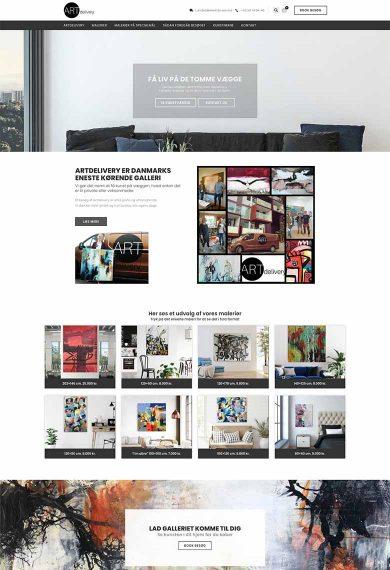 Artdelivery's webshop design