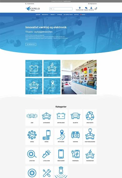 Cepelo tools professionel hjemmeside