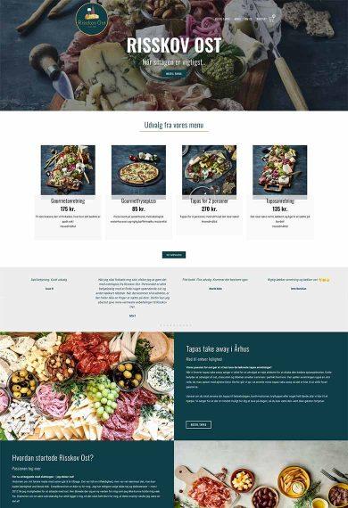 Risskov ost og deres professionelle webshop design