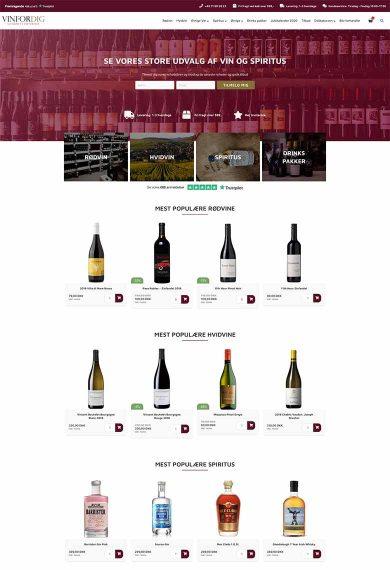 Professionel webshop løsning til VinForDig